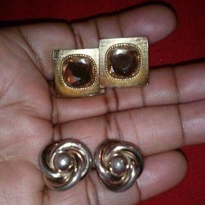 2 pairs of vintage cufflinks